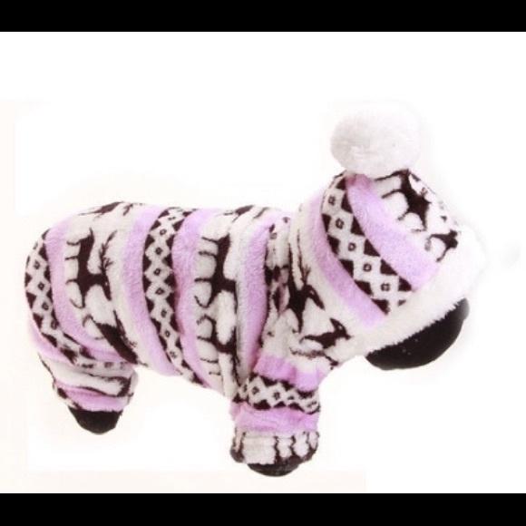Doggie pink & white onesie